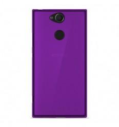 Coque Sony Xperia XA2 Silicone Gel givré - Violet Translucide
