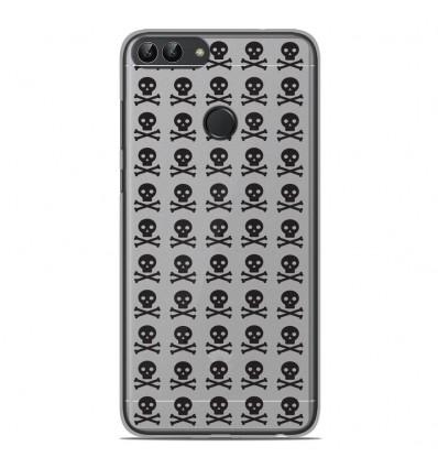 Coque en silicone Huawei P Smart - Skull Noir