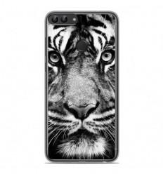 Coque en silicone Huawei P Smart - Tigre blanc et noir