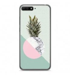 Coque en silicone Huawei Y6 2018 - Ananas marbre