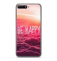 Coque en silicone Huawei Y6 2018 - Be Happy nuage