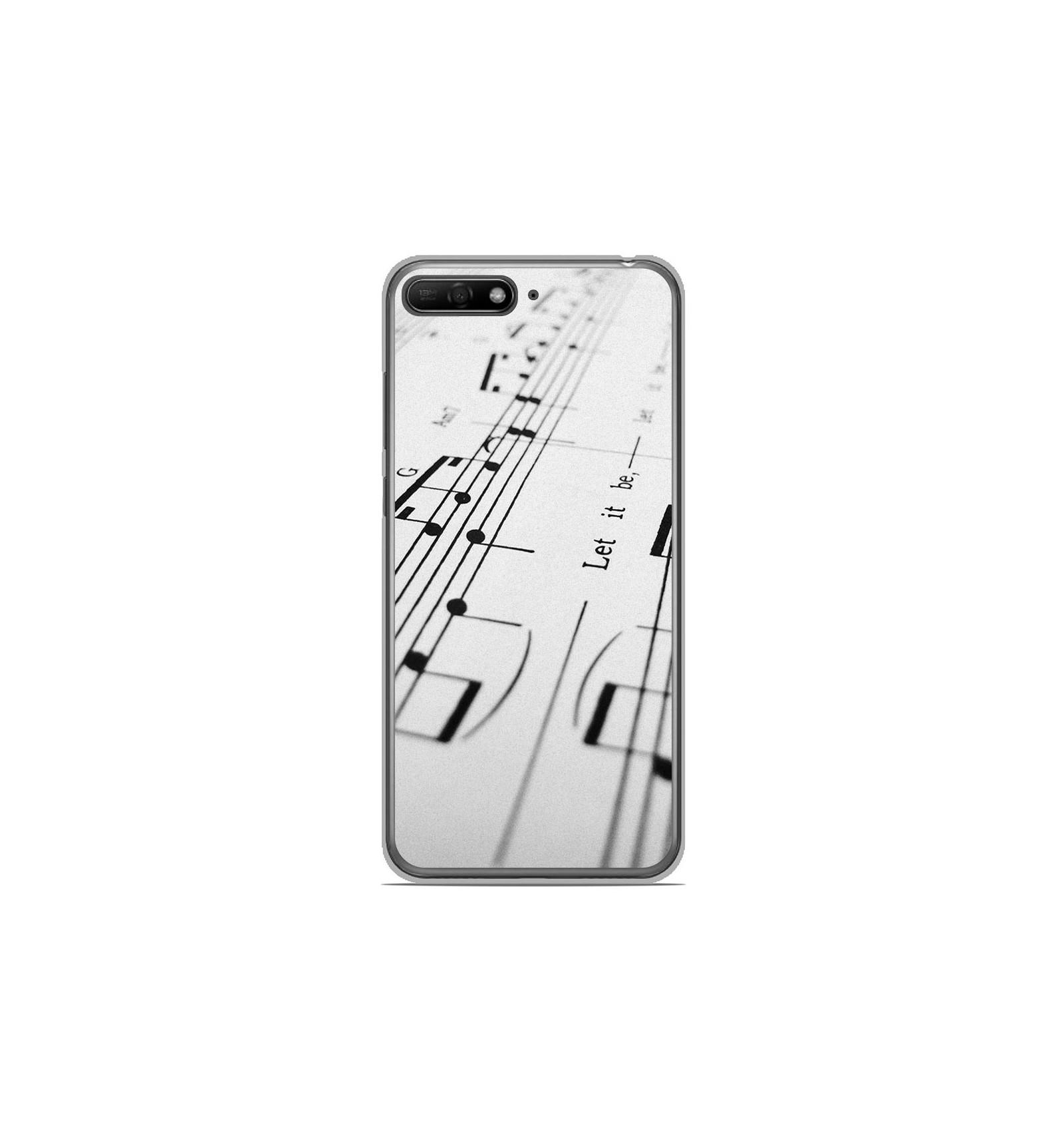 Coque en silicone Huawei Y6 2018 - Partition de musique