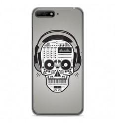 Coque en silicone Huawei Y6 2018 - Skull Music