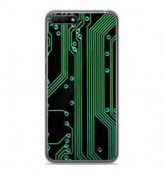 Coque en silicone Huawei Y6 2018 - Texture circuit geek