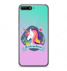 Coque en silicone Huawei Y6 2018 - Je suis une licorne