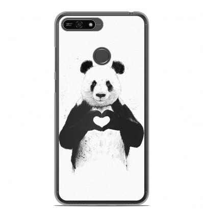 Coque en silicone Huawei Honor 7A - BS Love Panda