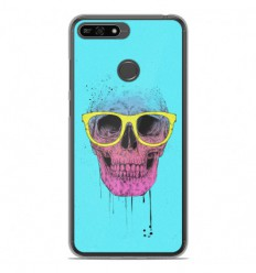 Coque en silicone Huawei Honor 7A - BS Skull glasses
