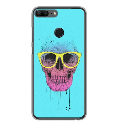 Coque en silicone Huawei Honor 9 Lite - BS Skull glasses