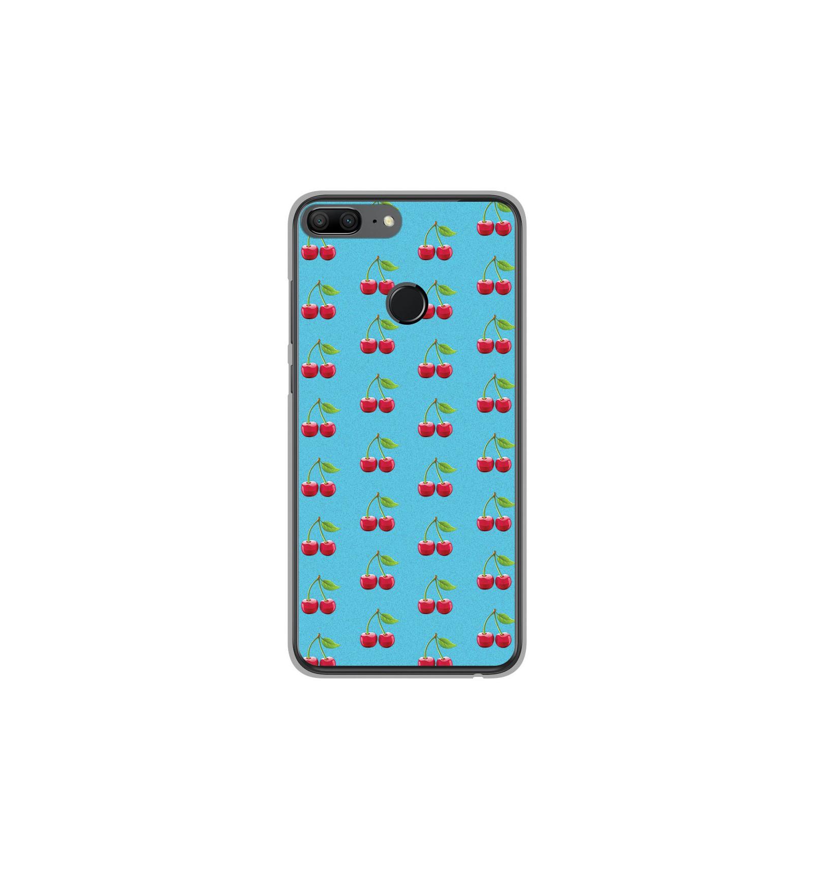 best online shop latest discount Coque en silicone Huawei Honor 9 Lite - Cerise Bleu