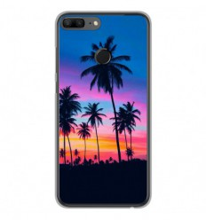 Coque en silicone Huawei Honor 9 Lite - Palmiers colorés