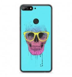 Coque en silicone Huawei Y7 2018 - BS Skull glasses