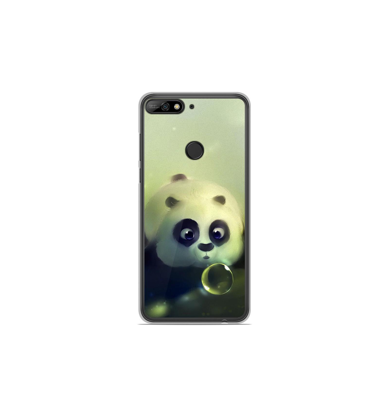Coque en silicone Huawei Y7 2018 - Panda Bubble