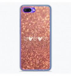 Coque en silicone Huawei Honor 10 - Paillettes coeur