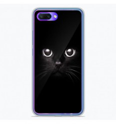Coque en silicone Huawei Honor 10 - Yeux de chat