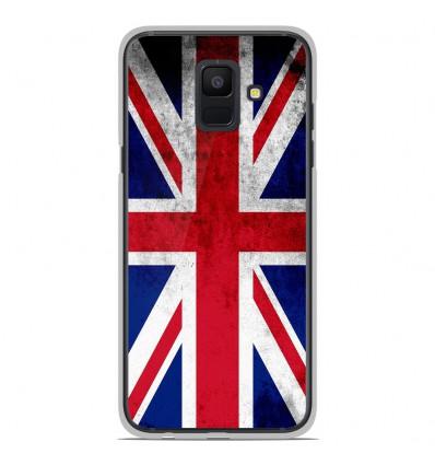 Coque en silicone Samsung Galaxy A6 2018 - Drapeau Angleterre