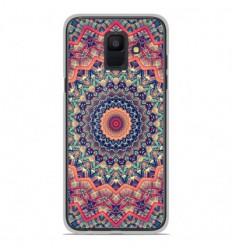Coque en silicone Samsung Galaxy A6 2018 - Mandalla rose