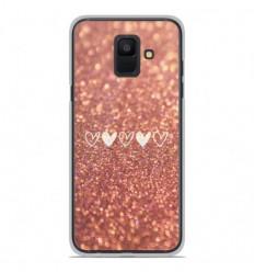 Coque en silicone Samsung Galaxy A6 2018 - Paillettes coeur