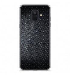 Coque en silicone Samsung Galaxy A6 2018 - Texture metal