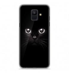 Coque en silicone Samsung Galaxy A6 2018 - Yeux de chat