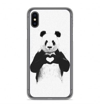 Coque en silicone Apple iPhone X / XS - BS Love Panda