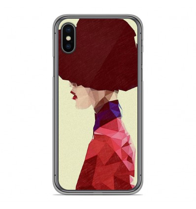 Coque en silicone Apple iPhone X / XS - ML Chic Hat