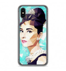 Coque en silicone Apple iPhone X / XS - ML Hepburn