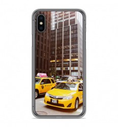 Coque en silicone Apple iPhone X / XS - NY Taxi