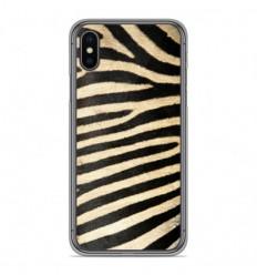 Coque en silicone Apple iPhone X / XS - Zèbre