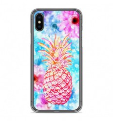 Coque en silicone Apple iPhone X / XS - Ananas