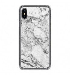 Coque en silicone Apple iPhone X / XS - Marbre Blanc