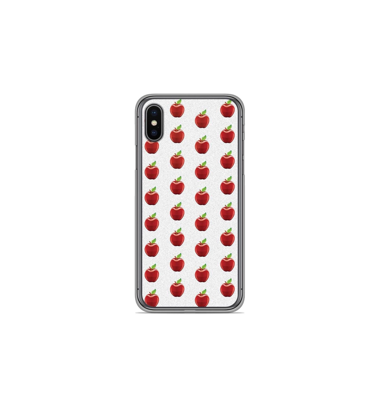 coque iphone x motif pomme