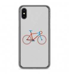 Coque en silicone Apple iPhone X / XS - Bike color Hipster