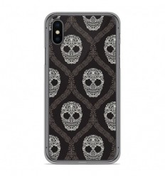 Coque en silicone Apple iPhone X / XS - Floral skull