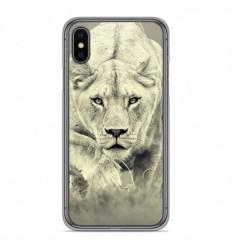 Coque en silicone Apple iPhone X / XS - Lionne