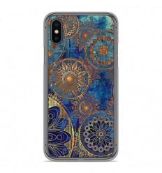 Coque en silicone Apple iPhone X / XS - Mandalla bleu