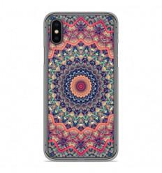 Coque en silicone Apple iPhone X / XS - Mandalla rose