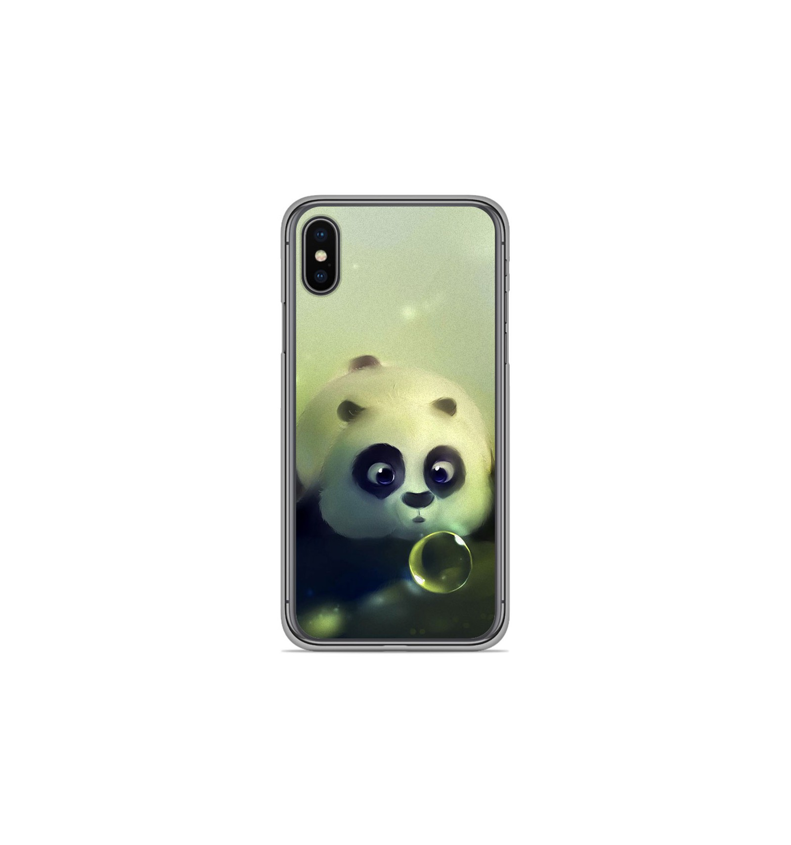coque iphone x silicone panda