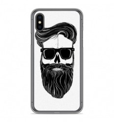 Coque en silicone Apple iPhone X / XS - Skull Hipster