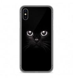 Coque en silicone Apple iPhone X / XS - Yeux de chat