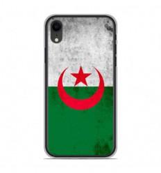Coque en silicone Apple iPhone XR - Drapeau Algérie