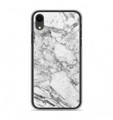 Coque en silicone Apple iPhone XR - Marbre Blanc
