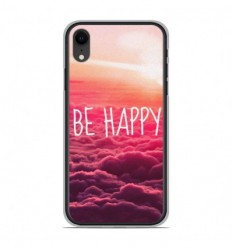 Coque en silicone Apple iPhone XR - Be Happy nuage
