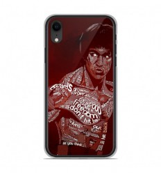 Coque en silicone Apple iPhone XR - Bruce lee
