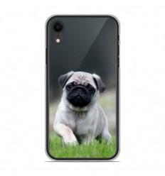 Coque en silicone Apple iPhone XR - Bulldog français