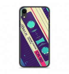 Coque en silicone Apple iPhone XR - Cassette Vintage