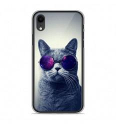 Coque en silicone Apple iPhone XR - Chat à lunette