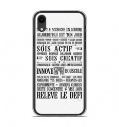 Coque en silicone Apple iPhone XR - Citation 11