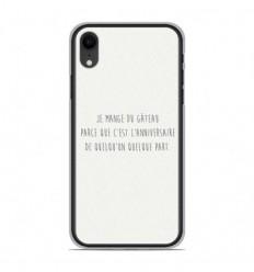 Coque en silicone Apple iPhone XR - Citation 12