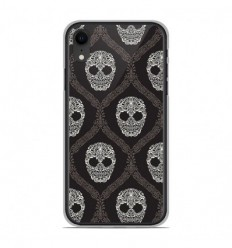 Coque en silicone Apple iPhone XR - Floral skull