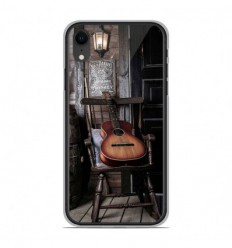 Coque en silicone Apple iPhone XR - Guitare
